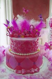 images fancy party ideas: we made this for our cousins little girls birthday party and incorporated the partys colors feathers and butterfl fancy nancy cake idea