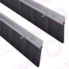 1 sur 3 garage door draught excluder bottom brush seal strip excluders aluminium 2500mm