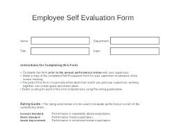 Employee Self Assessment Samples Example Of Job Self Evaluation ...
