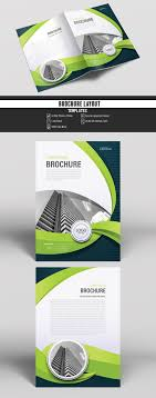 Buy Brochure Templates Business Brochure Cover Layout With Green Accents Buy This