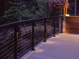led deck rail lights. Deck Railing With Designrail Led Can Lights Feeney Photo Gallery Rail Lighting