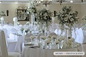 weddings round square table settings white flowers