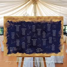 Galaxy Seating Chart Constellation Starry Night Wedding Signs Decor Stars Galaxy