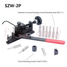 manual diy metal bender machine curved wire bar pipe bending steel plate
