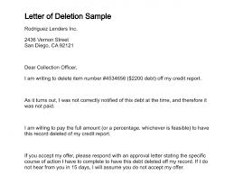 letter of deletion pertaining to letter to credit bureau to remove paid debt