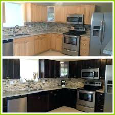 dark stained kitchen cabinets. How To Stain Cabinets Darker Staining Kitchen Before And After My . Dark Stained A