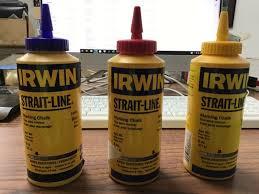 IRWIN STRAIGHT-LINE YELLOW Marking Chalk 8oz Bottle 64903 [Lot of 5] NOS - $24.95   PicClick