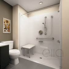 deluxe barrier free ada shower kit
