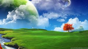 Download Wallpaper: Moon Big Green ...