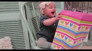 baby s 1st birthday present opening