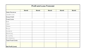 Profit And Loss Template For Self Employed Profit Loss Account Template