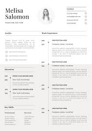 One Page Resume Format Doc Resumemplate For Word Freemplates Microsoft Cv Ats Carrie