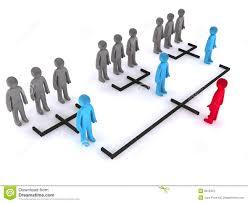 Simple Organizational Structure Stock Illustration