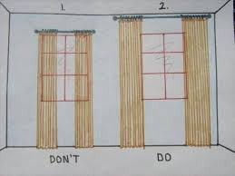 When I came across this public service announcement regarding curtains, I  had to smile. Though hanging curtains to the ceiling and wider than the  window ...