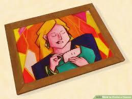 image titled frame a canvas step 8
