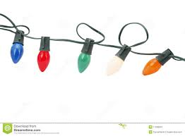 Fishing String Lights String Of Christmas Lights Isolated Stock Image Image Of