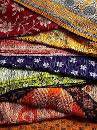 409 best Indian Textiles images on Pinterest | Embroidery ... & Indian Kantha quilts are made using old saris Adamdwight.com