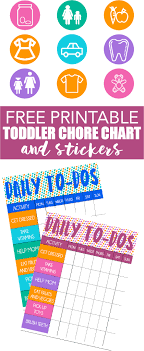 Free Printable Toddler Chore Chart And Stickers Chore