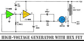 high voltage generator hex fet other project s discover all about electronics circuit schematic you can here its very large databse of electric circuit