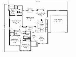 Home Plan Three Bedroom Beautiful Eplans French Country House