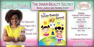 book signing flyer inner beauty secret book launch party signing pearl girls