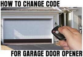 how to change code for garage door opener