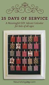 advent calander 25 days of service advent calendar nourishing joy