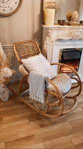 Excited To Share This Item From My Etsy Shop Bamboo Rocking Chair Style Of Franco Albin Rocking Chair Nursery Living Room Rocking Chairs Rattan Rocking Chair