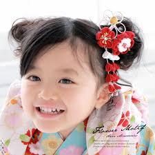 つまみ細工 髪飾り 赤 レッド 白 梅 桜 花 女の子 七五三 3才 7才