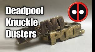 Wooden Knuckles Deadpool Knuckle Dusters Brass Knuckles Youtube