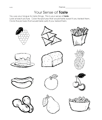 5 Senses Worksheets For Preschool Free 5 Senses Coloring Pages Our ...