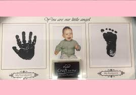 baby hand and foot print with frame v3