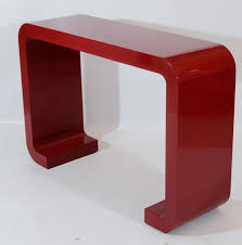 red console table as your high function item  modern console tables