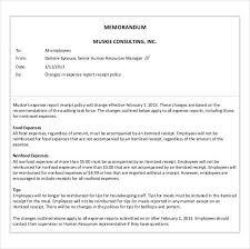 Business Memo Format 5 Sample Business Memo Templates Example Doc