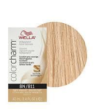 Details About Wella Color Charm Permament Liquid Hair Color 42ml Light Blonde 811 8n