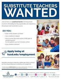 Image result for substitute teachers wanted kusd