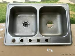 DIY Sand And Water Table Made From A Thrift Store Kitchen Sink Kids Kitchen Sink