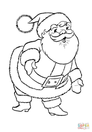 Great Santa Claus Coloring Page From