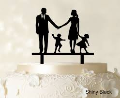 wedding cake toppers. image is loading wedding-cake-topper-family-silhouette-bride-and-groom- wedding cake toppers l
