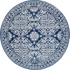 oxus navy power loomed modern round rug  temple  webster