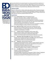 Barbara Dubois Design Portfolio Resume Page