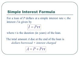 Loan Formula Math Simple Interest Formula Loan Calculator