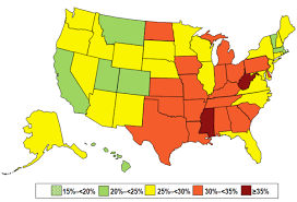 Obesity Chart In America Obesity Statistics In The United States