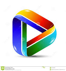 Music Video Logo Design Colorful 3d Vector Abstract Play Icon For Logo Template