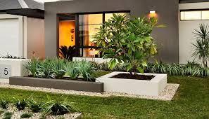 modern landscaping front yard