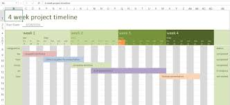 4 Week Project Timeline | Excel Templates For Every Purpose