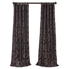 half ds astoria damask faux silk jacquard rod pocket single curtain panel reviews wayfair