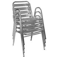 Table ronde et chaise terrasse aluminium | Mobeventpro : mobilier de ...