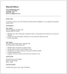Hair Stylist Assistant Resume Sample Hair Stylist Resume Examples