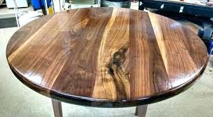 round walnut table custom solid walnut round table top
